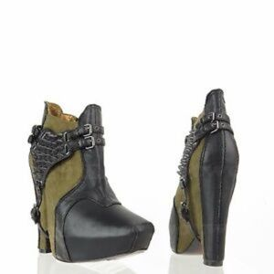 Sam Edelman Zoe 2 Green Suede Ankle Boot Size 8.5